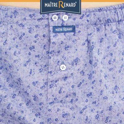 Caleçon homme classique coupe française liberty bleu jeans 100% coton