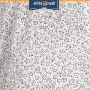 Caleçon short femme en voile de coton motifs fleurs grises liberty classique