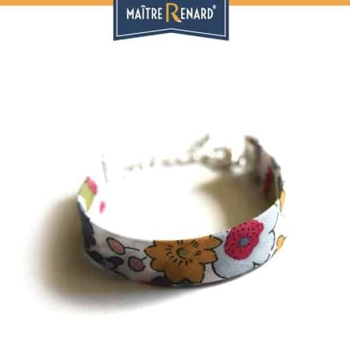 Bracelet Fleuris fermoir à griffes argentées