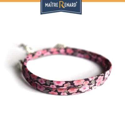 bracelet-tissu-liberty-fuchsia-double-tour-fermoir-griffes