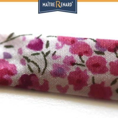 Bracelet Liberty rose fuchsia à griffes argentées
