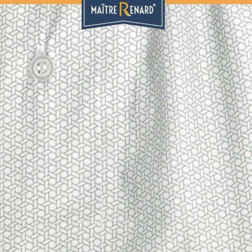Caleçon homme classique coupe française motifs cubes gris 100% popeline de coton
