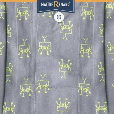 Caleçon homme coupe française classique motifs robots 100% coton
