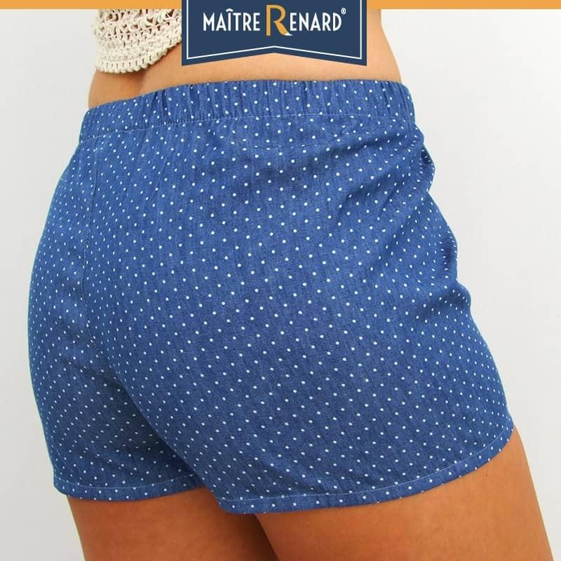 caleçon short femme pois jeans