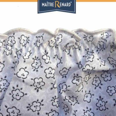 Culotte bouffante en voile de coton 100% coton motifs fleurs grises