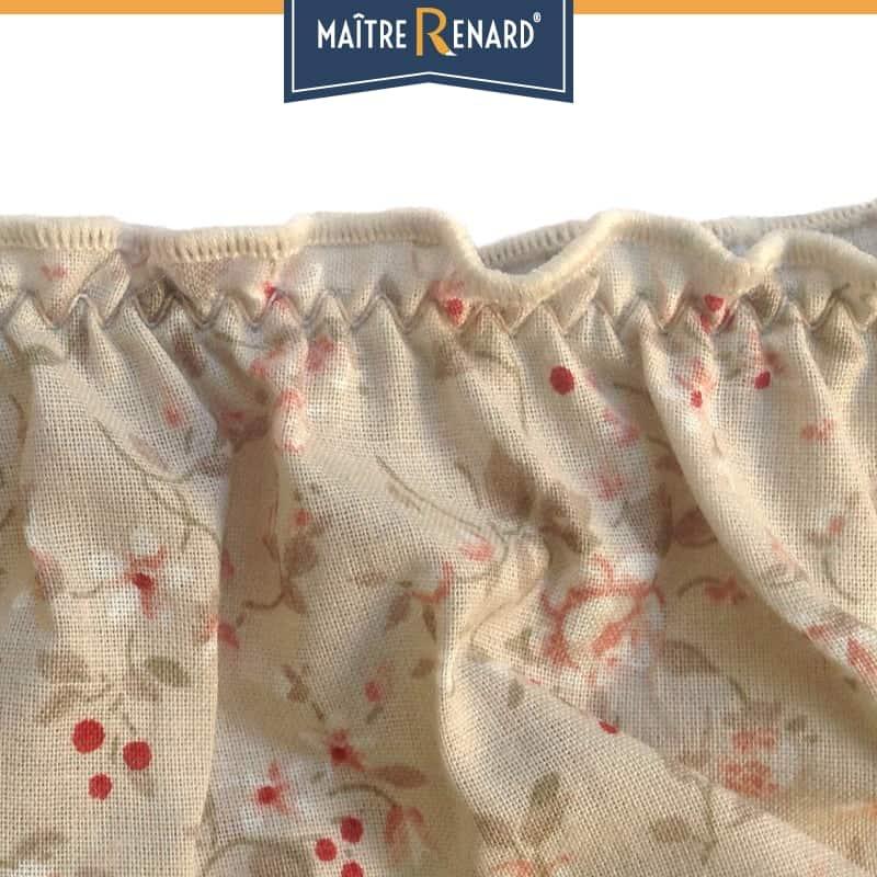 Culotte bouffante en voile de coton 100% coton motifs romantique