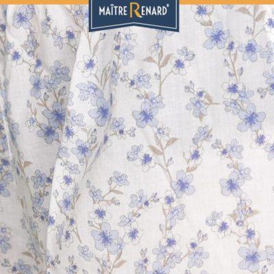 caleçon femme short femme fleurs anciennes bleu voile de coton