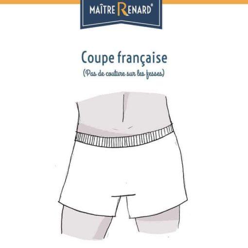Caleçon homme classique coupe française dos