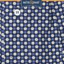 Caleçon homme classique coupe française motifs fleurs fond marine 100% coton