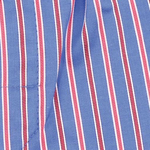 Caleçon homme classique coupe française rayé rouge et bleu