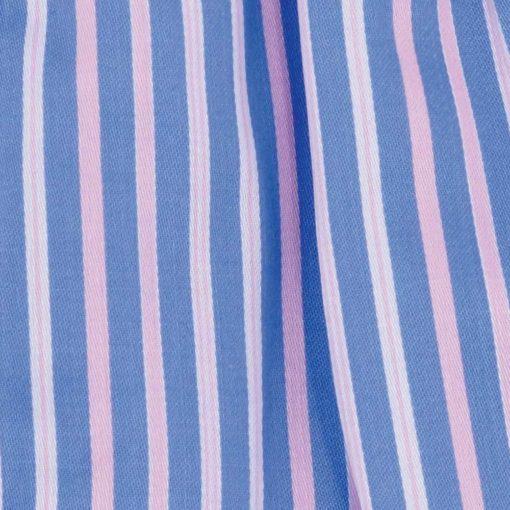 Caleçon homme classique coupe française rayé bleu et rose rivage