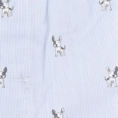 Caleçon homme classique coupe française 100% coton popeline motifs chiens bulldog