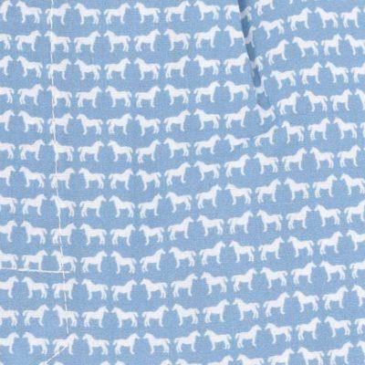 Caleçon homme classique coupe française 100% coton popeline motif chevaux