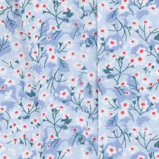 Caleçon homme classique coupe française 100% coton popeline motifs fleurs bleues