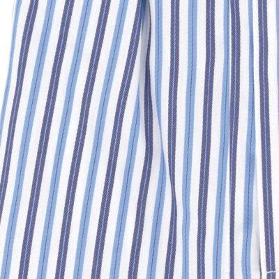 Caleçon homme classique coupe française 100% coton popeline rayures bleues