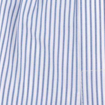Caleçon homme classique coupe française 100% coton popeline rayé bleu et blanc