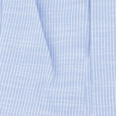 Caleçon homme classique coupe française 100% coton popeline rayé bleu et blanc bleu jeans clair