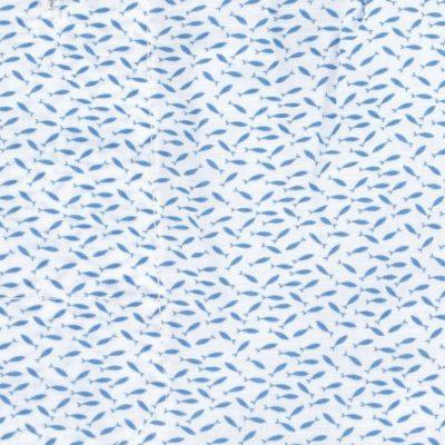 Caleçon homme classique coupe française 100% coton popeline motifs sardines