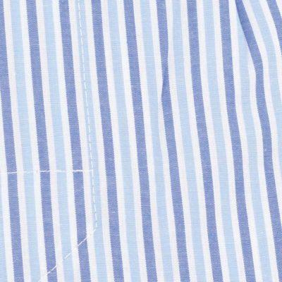 Caleçon homme classique coupe française 100% coton popeline rayé duo de bleu