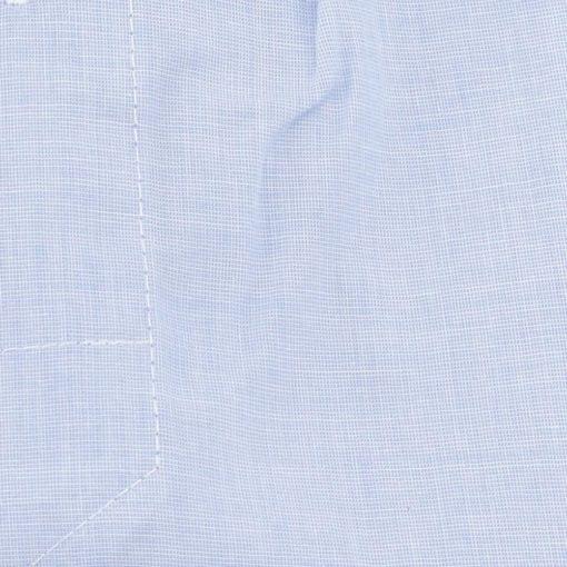 Caleçon homme classique coupe française 100% coton fil à fil bleu uni