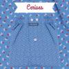 Caleçons homme classique coupe française rayé bleu 100% Coton motifs cerises popeline
