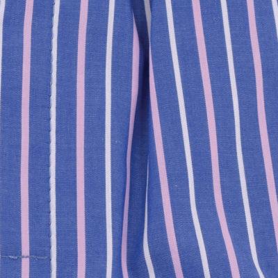 Caleçons homme classique coupe française rayé bleu 100% Coton rayé rose et bleu popeline