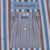 Caleçons homme classique coupe française rayé bleu 100% Coton rayé menthe chocolat popeline