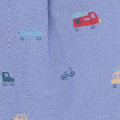 Caleçons homme classique coupe française rayé bleu 100% Coton motifs voitures popeline