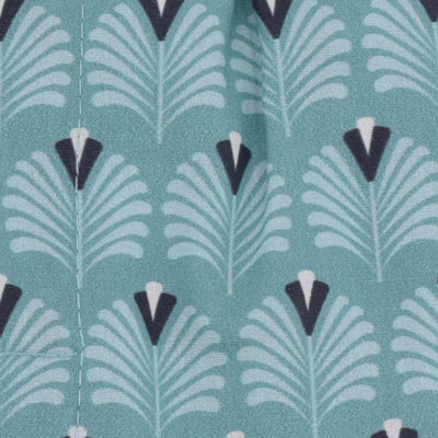 Caleçons homme classique coupe française rayé bleu 100% Coton motifs plumes de paon popeline