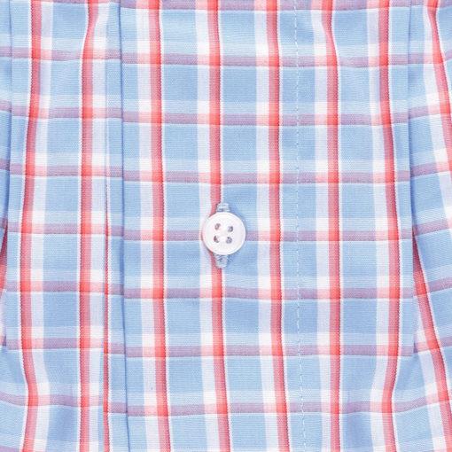 Caleçons homme classique carreaux coton.Caleçons coupe francaise en popeline de coton rayé bleu et rouge