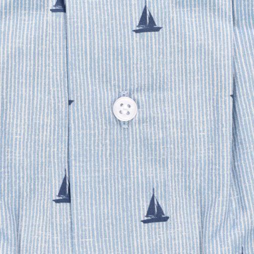 Caleçon coupe française en coton motif bateaux. Maitre renard