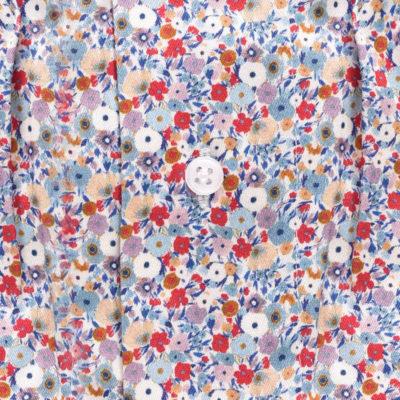Caleçon homme style liberty. fleurs en coton. Caleçon en satin de coton fleuri, maitre renard.
