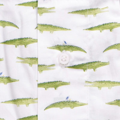 Caleçon homme crocodile. Notre caleçon alligator vert est en coton et sans couture sur les fesses.