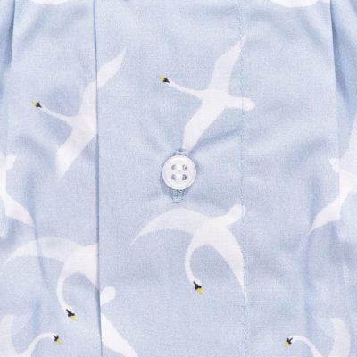 Caleçon homme en coton, motif cygnes oiseaux. Caleçon de grande qualité.