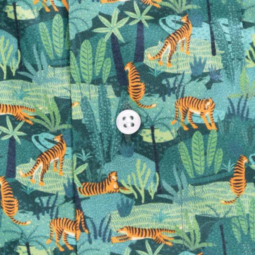 Caleçon homme imprimé tigre. Notre caleçon tigre est en satin de coton de très grande qualité.