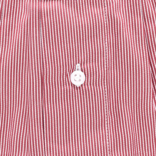 Caleçon rayé rouge en satin de coton. Coton très doux au touché. coton de qualité. Caleçon coupe francaise. Bretagne
