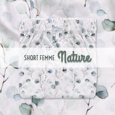 Short femme nuit sous vetement fleurs