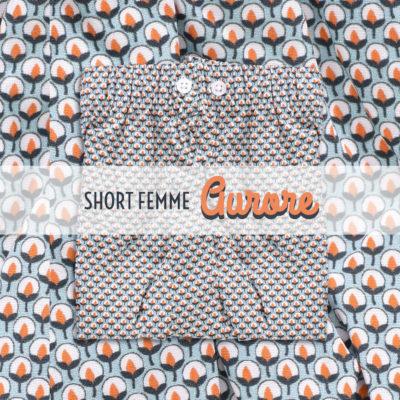 Short femme popeline de coton