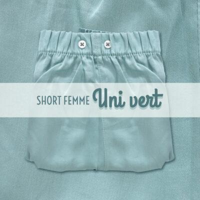 Pyjama short en satin de coton femme