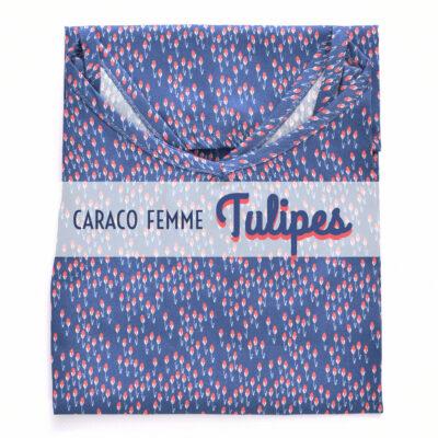 Top femme fleurs en coton imprimé fleurs tulipes