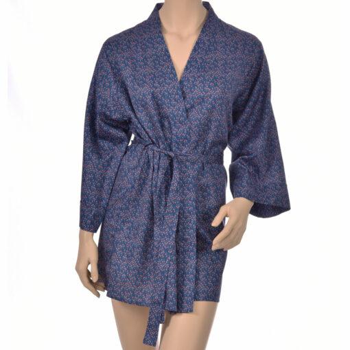 Kimono en satin de coton fleurs Kimono haut de gamme en coton très doux et naturel. Déshabillé en satin chic et classe