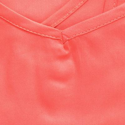 Nuisette femme satin de coton rouge