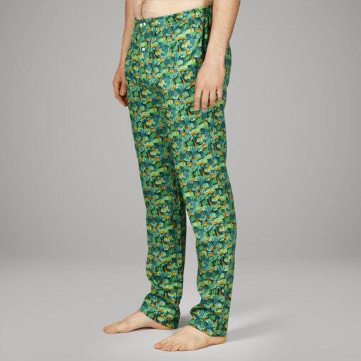 Pantalon de pyjama en satin de coton homme. Bas de pyjama homme , tissu de qualité