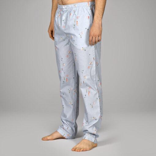 Pantalon de pyjama en pur coton homme. Bas de pyjama homme , tissu de qualité imprimé surf