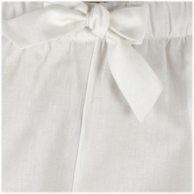 zoom pyjama satin de coton blanc