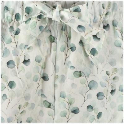 Bas de pyjama en popeline de coton fleurs