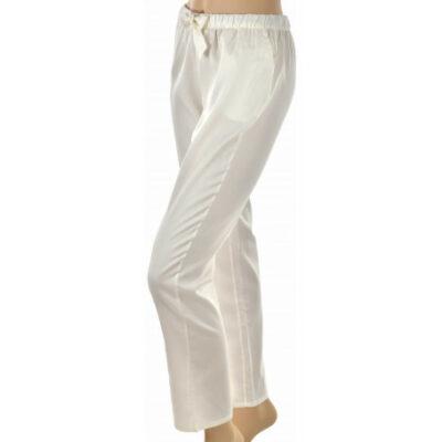 Pantalon de nuit en satin uni creme