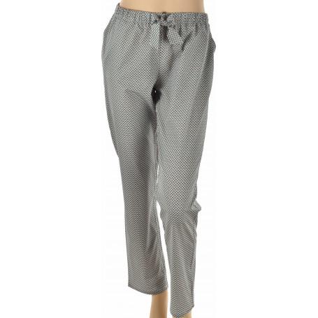pyjama femme pantalon popeline de coton