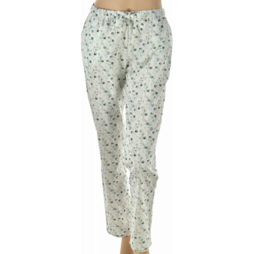 Pyjama femme en coton - pantalon fleurs nature