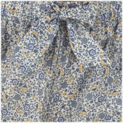 Pyjama femme fleurs bleues en coton